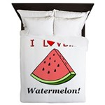 I Love Watermelon Queen Duvet