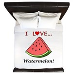 I Love Watermelon King Duvet