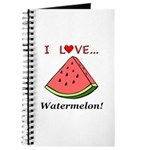 I Love Watermelon Journal