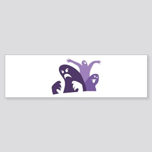 Scary Ghosts Bumper Sticker