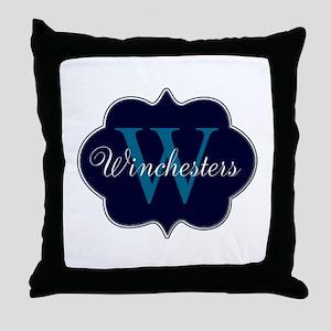 Elegant Monogrammed Design by LH Throw Pillow