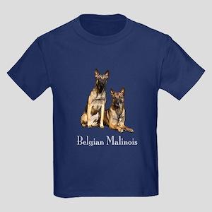 Belgian Malinois Pair Kids Dark T-Shirt