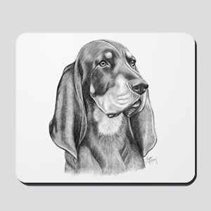 Black and Tan Coon Hound Mousepad