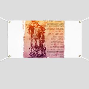St. Michael Prayer in Latin Banner