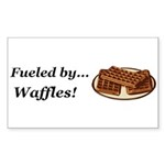 Fueled by Waffles Sticker (Rectangle 50 pk)