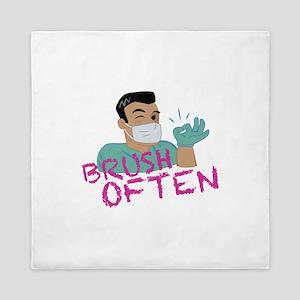 Brush Often Dentist Queen Duvet