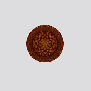 Gold Red Thai Kaleidoscope Mini Button
