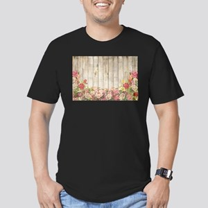 Vintage Rustic Romantic Roses Wood T-Shirt