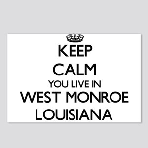 Keep calm you live in Wes Postcards (Package of 8)