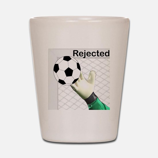 Rejected Soccer Ball Shot Glass