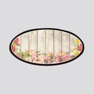 Vintage Rustic Romantic Roses Wood Patch