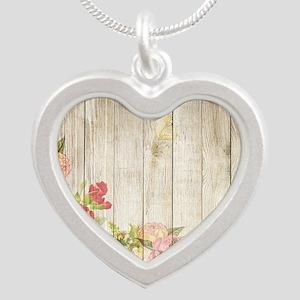 Vintage Rustic Romantic Roses Wood Necklaces