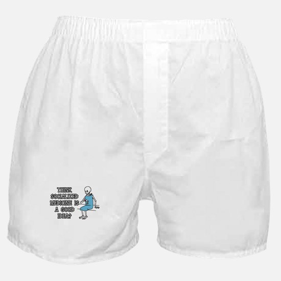 Socialized Medicine Skeleton Boxer Shorts