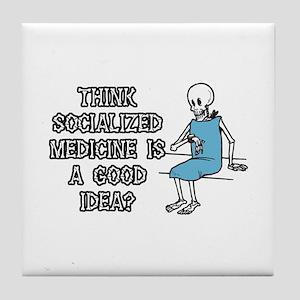Socialized Medicine Skeleton Tile Coaster