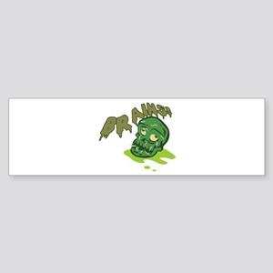 Zombie Brains Sticker (Bumper)