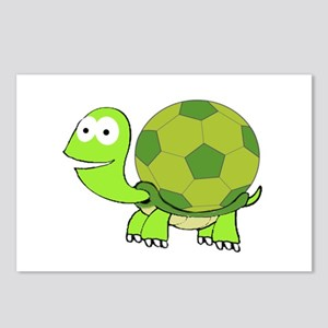 Turtle with Soccer Ball S Postcards (Package of 8)