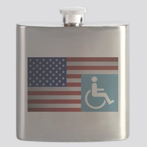Disabled American Veteran Flask