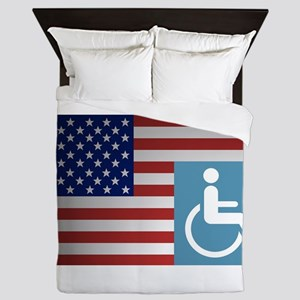 Disabled American Veteran Queen Duvet