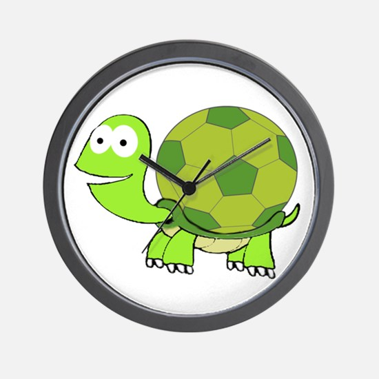 Turtle with Soccer Ball Shell Wall Clock