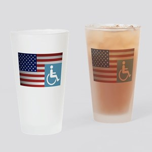 Disabled American Veteran Drinking Glass