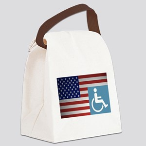 Disabled American Veteran Canvas Lunch Bag