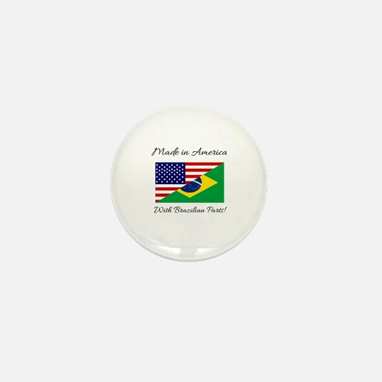 Cute Brazil flag Mini Button