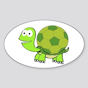 Turtle with Soccer Ball Shell Sticker
