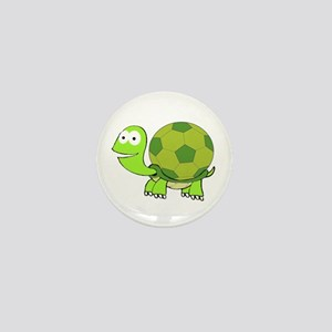 Turtle with Soccer Ball Shell Mini Button