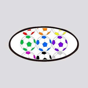 Rainbow of Soccer Balls Patch