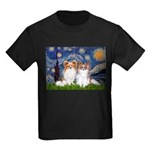 Starry Night & Papillon Kids Dark T-Shirt