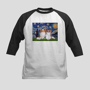 Starry Night & Papillon Kids Baseball Jersey