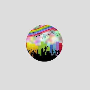 Colorful Musical Theme Mini Button