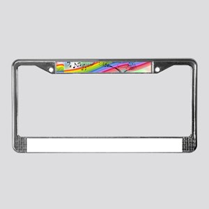 Colorful Musical Theme License Plate Frame