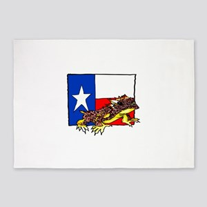 TEXAS HORNED TOAD 5'x7'Area Rug