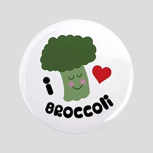 """Love Broccoli 3.5"""" Button"""