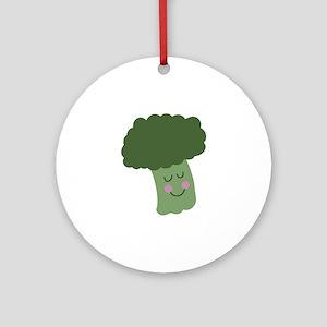 Happy Broccoli Ornament (Round)