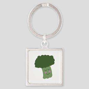 Happy Broccoli Keychains