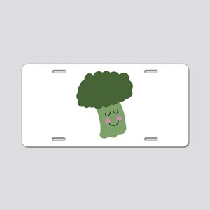 Happy Broccoli Aluminum License Plate