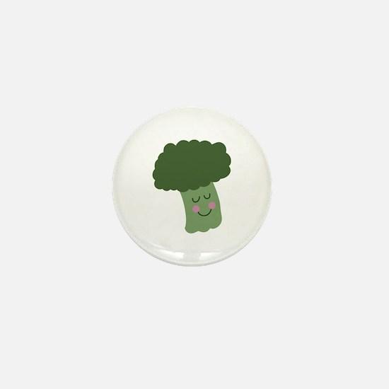 Happy Broccoli Mini Button