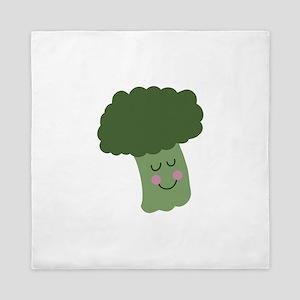 Happy Broccoli Queen Duvet