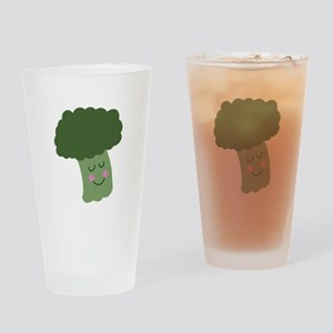 Happy Broccoli Drinking Glass