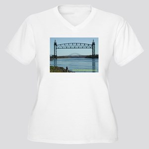Railroad Bridge Women's Plus Size V-Neck T-Shirt