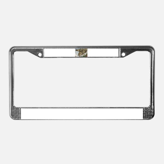 Burmese Cats asleep License Plate Frame