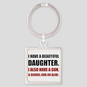 Beautiful Daughter Gun Keychains