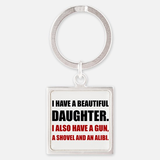 Beautiful Daughter Gun Keychains