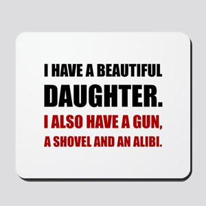 Beautiful Daughter Gun Mousepad