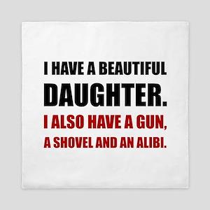 Beautiful Daughter Gun Queen Duvet