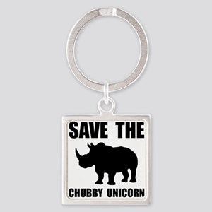 Chubby Unicorn Rhino Keychains