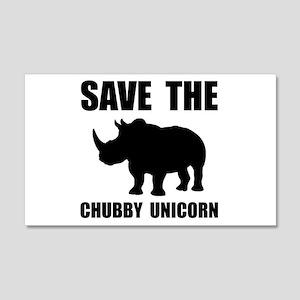 Chubby Unicorn Rhino Wall Decal