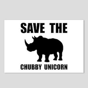 Chubby Unicorn Rhino Postcards (Package of 8)